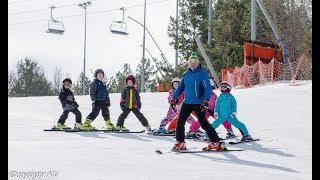 Обучение детей горнолыжной технике в Поволжской школе
