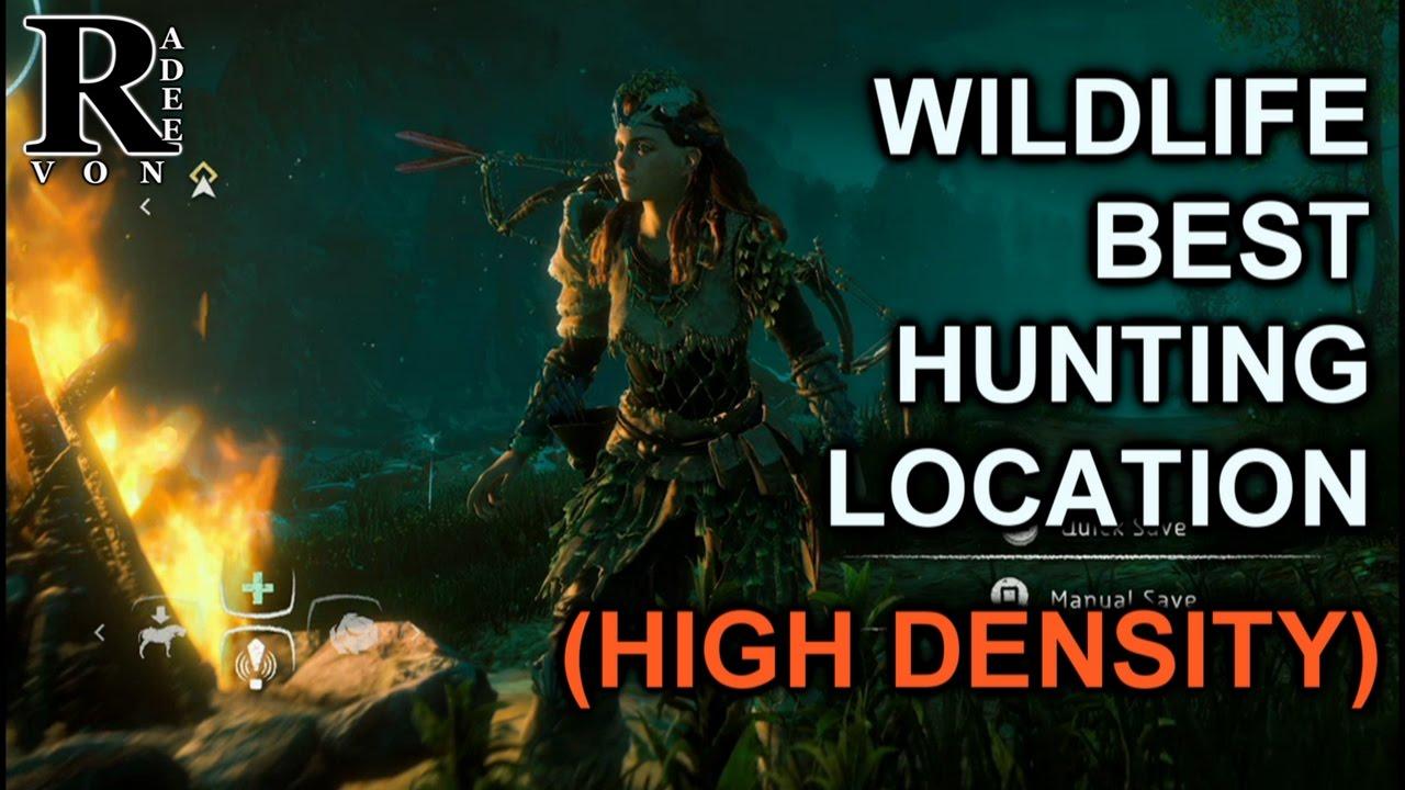 Horizon Zero Dawn - Wildlife best farm and hunt Location guide (High  density)