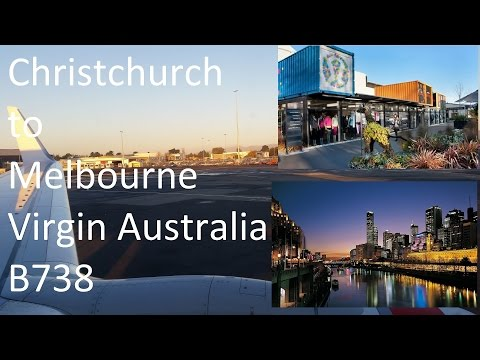 Virgin Australia - Christchurch to Melbourne