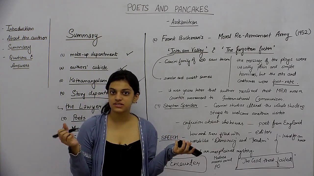 poets and pancakes summary