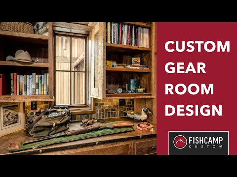 Custom Gear Room Design | Hunting And Fishing Gear Room | Fishcamp Custom | Montana