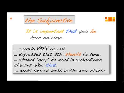 the English Subjunctive (a grammar video)