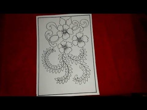 Cara Menggambar Batik Motif Bunga 17