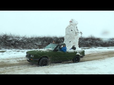 Download Youtube: We Built a Snowman on the car and went for drive haha.