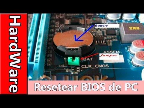Como hacer un Reset a la Bios del PC - Fisicamente