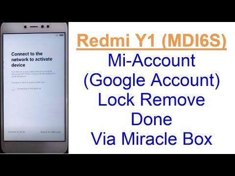 Redmi Y1 (MDI6S) Mi-Account (Google Account) Lock Remove Done Via EDL Mode With Miracle Box