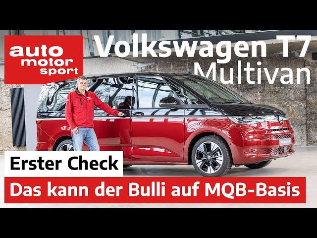 VW Mulitvan T7: Wo liegen die Unterschiede zum T6.1? - Review I auto motor und sport