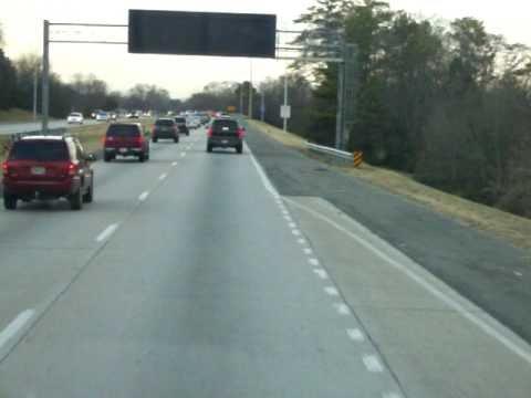 Interstate in Birmingham, Alabama