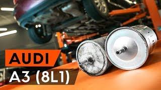 Montavimo benzinas ir dyzelinas Kuro filtras AUDI A3: vaizdo pamokomis