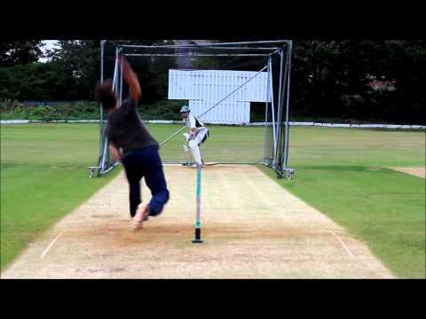 Me Batting at nets