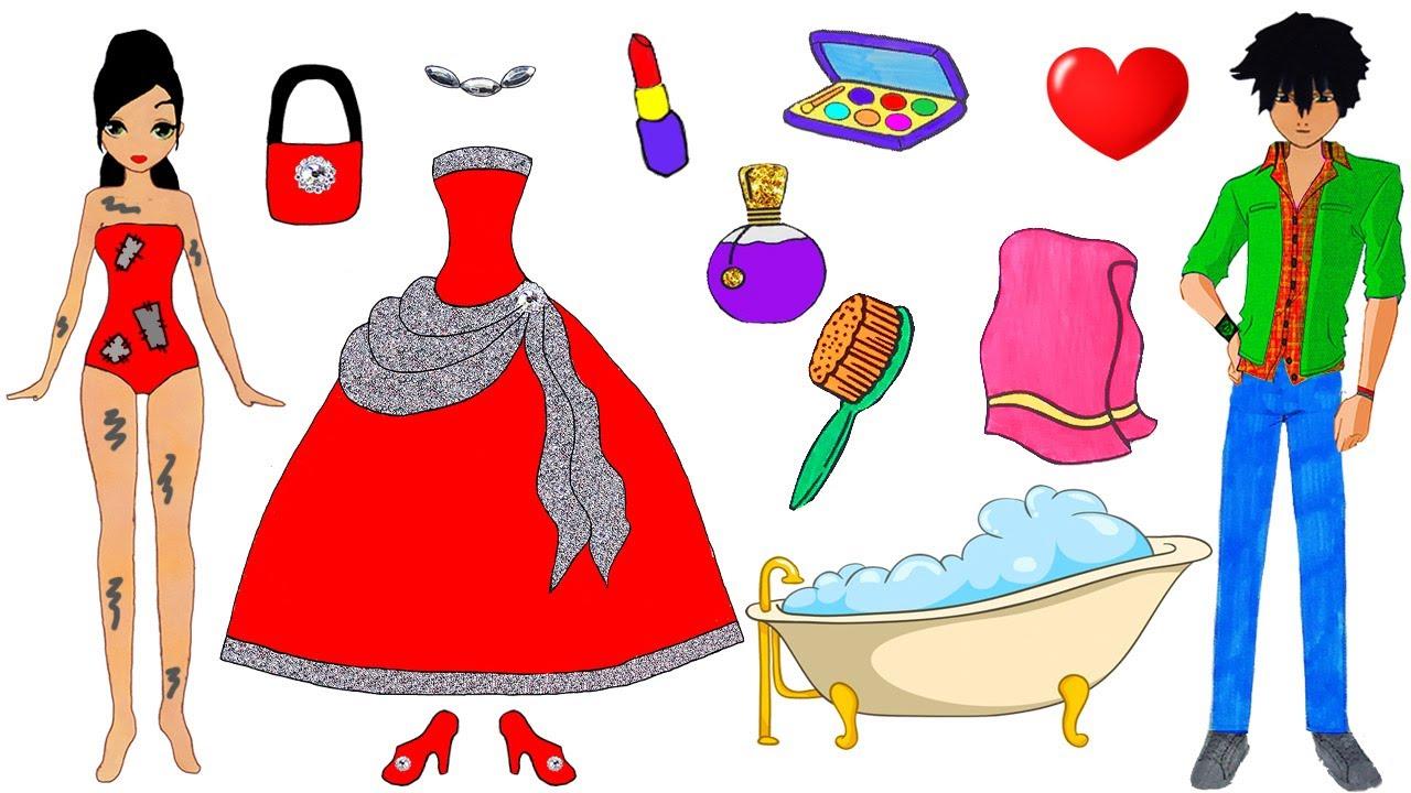 PAPER DOLLS DRESS UP HANDMADE QUEIT BOOK COSTUMES DRESSES ...