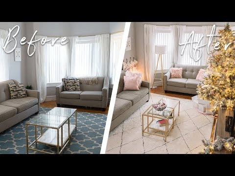 $300 LIVING ROOM MAKEOVER ON A BUDGET! DIY DECOR