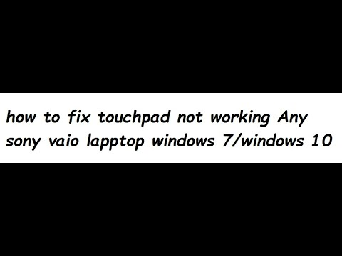 how to unlock the mousepad on a sony vaio laptop