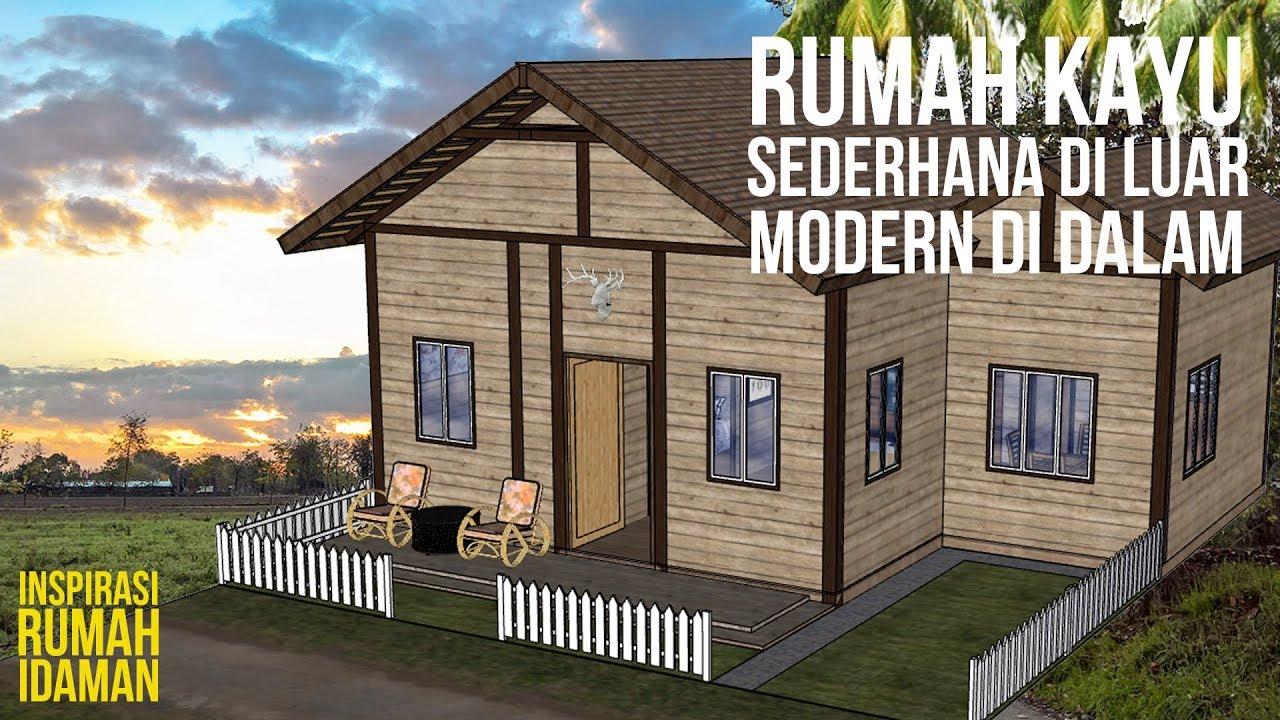 Inspirasi Design Rumah Kayu Modern Sederhana Youtube Rumah kayu minimalis sederhana