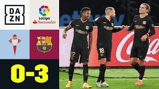 Ansu Fati zaubert! Barca gewinnt Regenschlacht trotz Unterzahl: Vigo - Barcelona 0:3 | LaLiga | DAZN