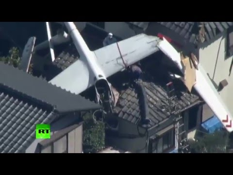 Glider crashes into residential houses in Chiba prefecture, Japan