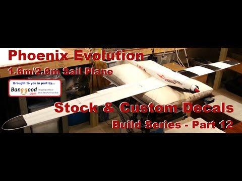 Volantex RC - Phoenix Evolution 1.6m/2.6m - Stock & Custom Decals - Build Series - Part 12