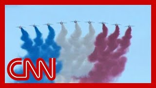 Military flyovers mark 75 years after D-Day