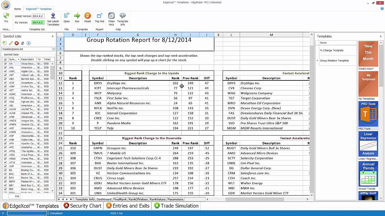 Detecting Rotation with EdgeRater Group Rotation Template – Rotation Schedule Template