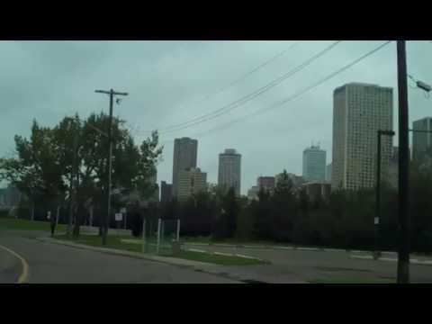 DRIVING CANADA-Alberta-Edmonton-Downtown-TheZuell