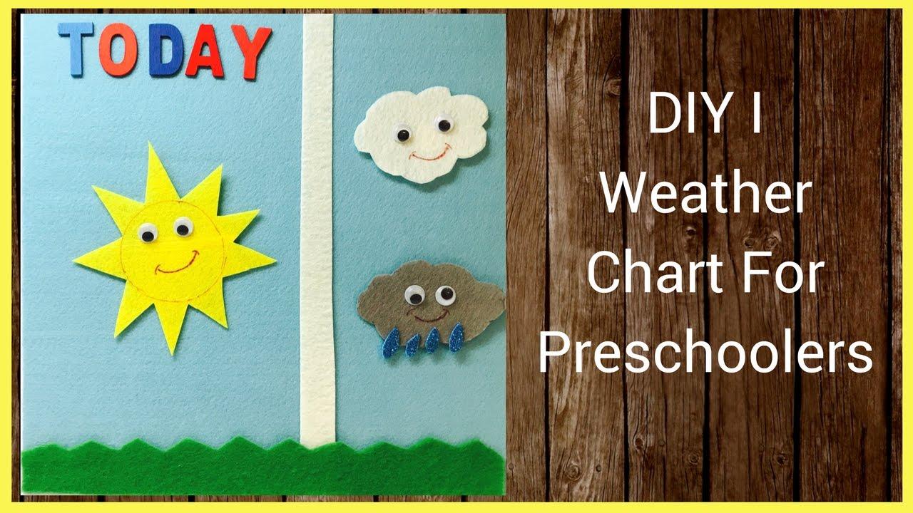 Diy i weather chart for preschoolers youtube
