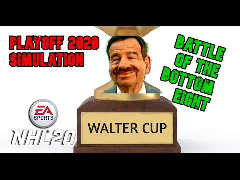 New NHL 20 playoff simulation! The Walter Cup! Awarded to the best team in the bottom 8 in the standings! Battle of the bottom! Every hockey fan should have something to cheer for!