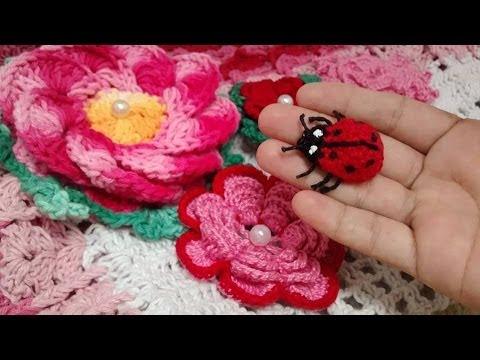 joaninhas | Joaninha de crochê, Chaveiro de croche, Tartaruga de ... | 360x480
