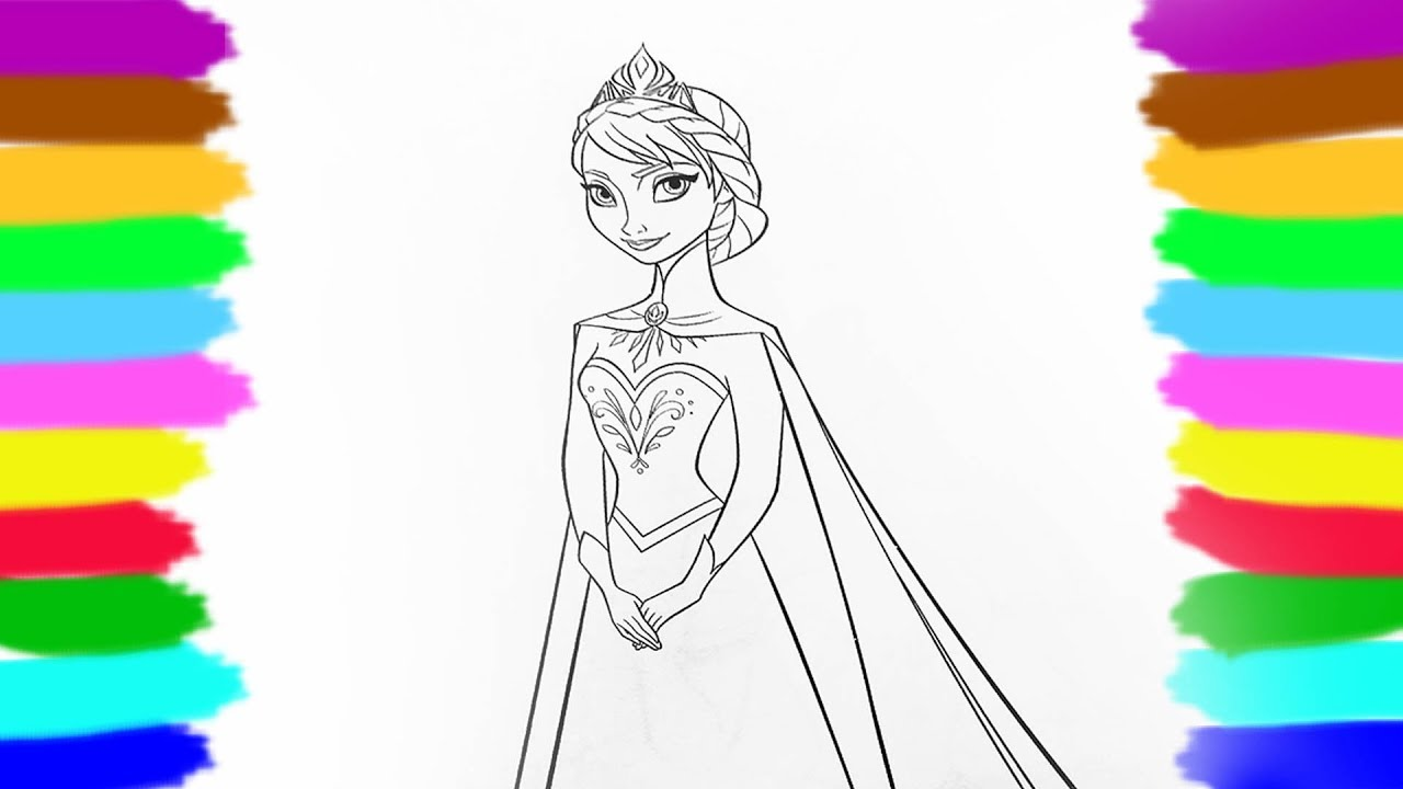 Comment Colorier Princess Disney Elza How To Color Frozen Elza