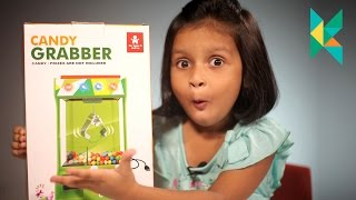 Candy Grabber Challenge Toy : Machine Replica Toy : kyrascope playing challenges