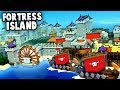 Building FORTRESS ISLAND vs HUGE Vikings Invasion! (Kingdoms and Castles New Update gameplay)