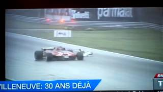 Gilles villeneuve  ,8 mai 1982 , 30 ans