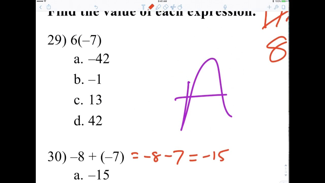 6th period prealgebra chapter 1 and 2 review evens YouTube – Pre Algebra Review Worksheet