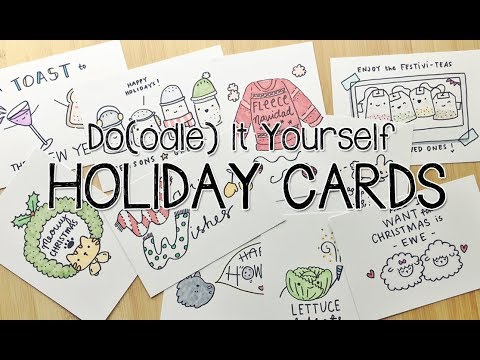 10 PUNTastic DIY Holiday Cards  Doodle with Me