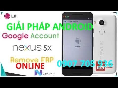 online remove frp lock on Google Nexus 5X android Oreo 8 1