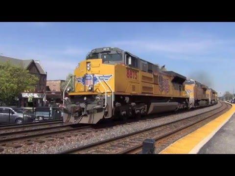 UP Geneva Sub Trains in Glen Ellyn, IL