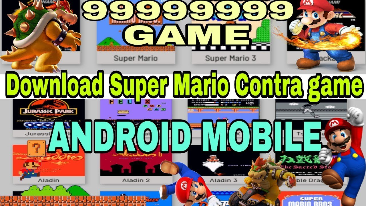 Download Super Mario Contra game & Other 99999   Game for Android Mobile