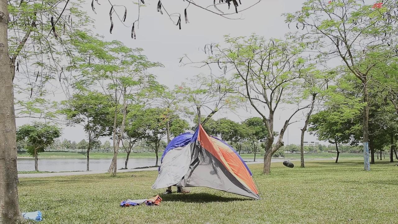 Hướng dẫn dựng lều xỏ cắm trại 4  người 2 lớp Eureka