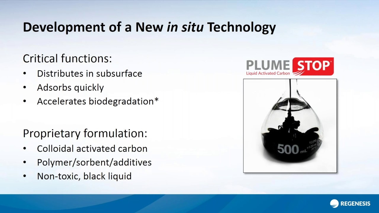 PlumeStop and the In Situ Containment of Perfluorinated Chemicals (PFAS &  PFOA)