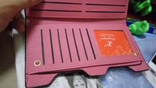 review Bowknot Letter Hasp Zipper Horizontal Long Wallet