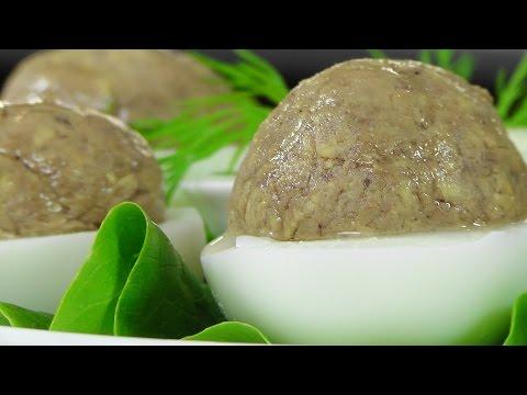 Яйца фаршированные куриной печенкой видео рецепт