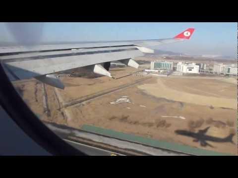Landing at Incheon Int. Airport, South Korea