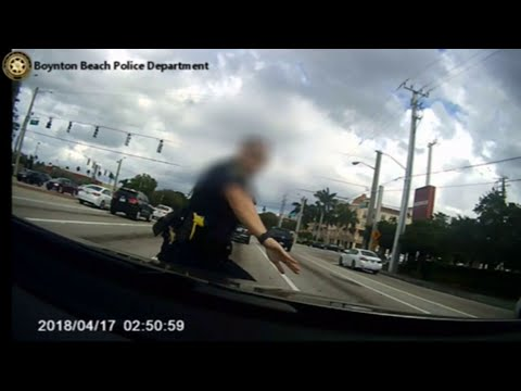 Video shows Boynton Beach police officer being struck by SUV