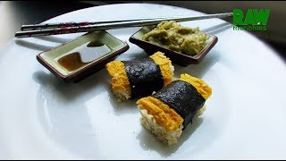 Raw Vegan Tamago Nigiri | Rawmunchies.org | Raw Vegan Recipes