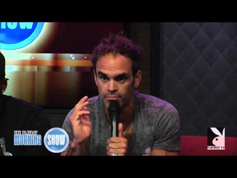 Steven Ogg with Ned & Solo at the Playboy Morning Show