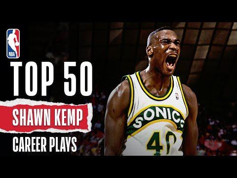 Shawn Kemp's 50 BEST Plays   NBA Career Highlights