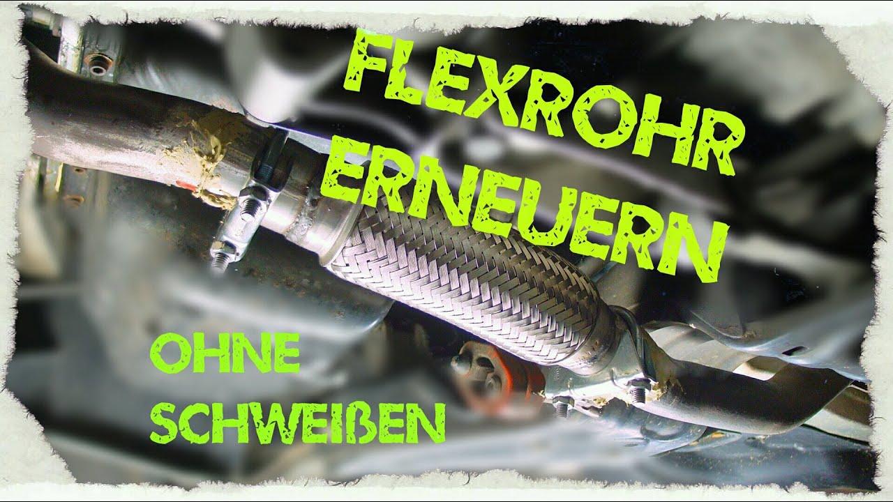 Flexrohr am Auspuff tauschen (geringe Kosten, ohne ...
