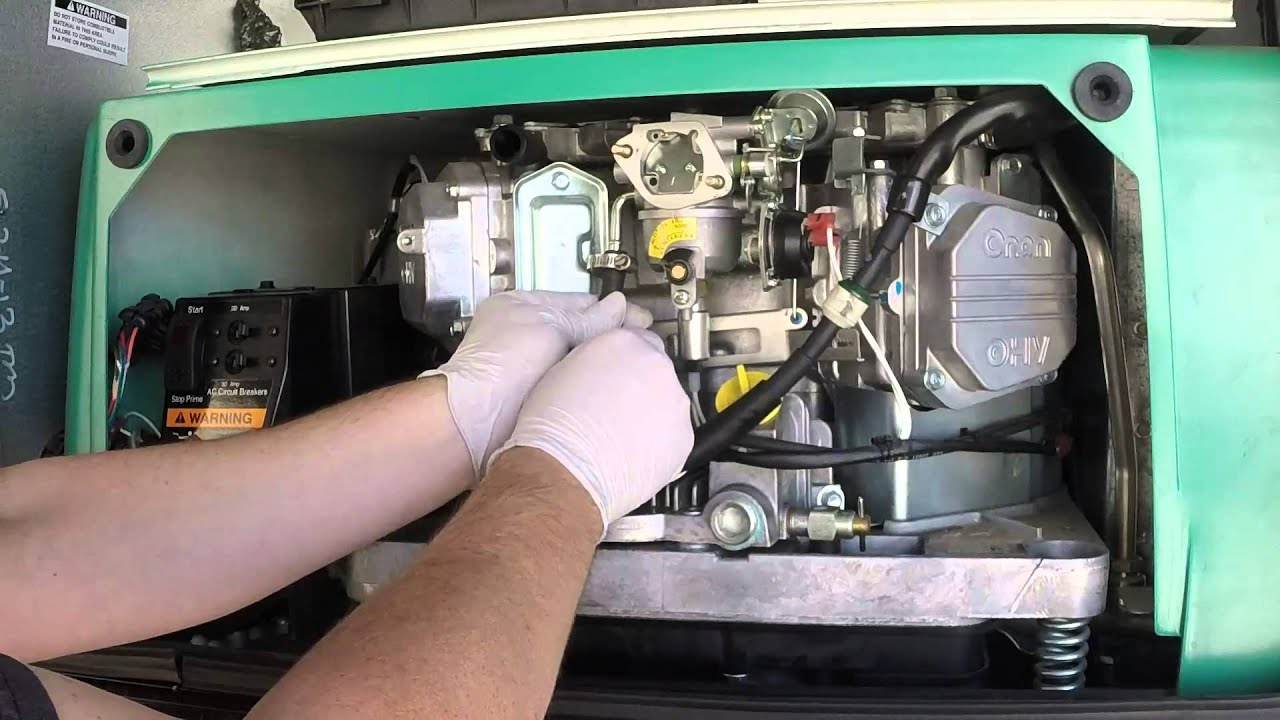 Onan 5500 Carburetor Installation