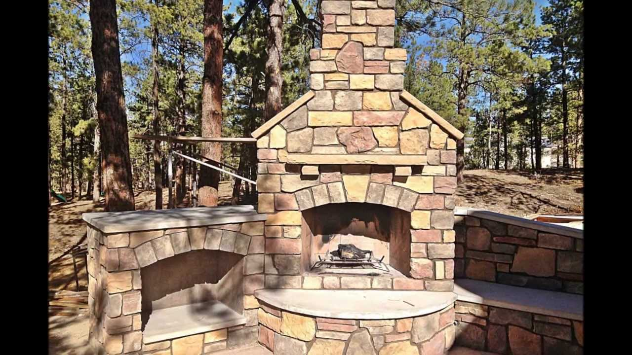 Building an Outdoor Fireplace - YouTube