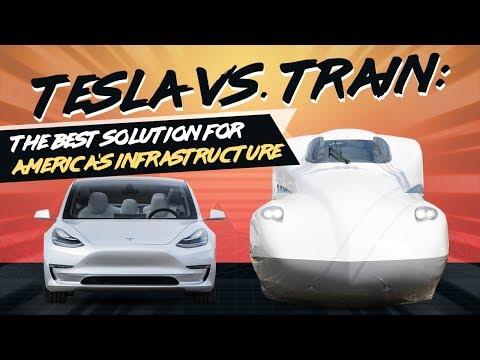 Tesla vs Train: Can the Model 3 Beat a Bullet Train