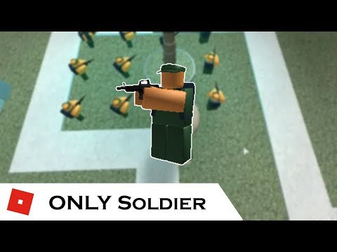 How far can You go with ONLY Soldier? | Tower Battles [ROBLOX]